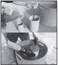 Making Concrete Cylinders 1930s