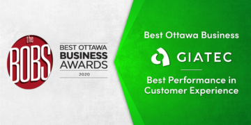 Giatec wins the 2020 Best Ottawa Business Award for Best Performance in Customer Experience